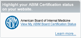 Highlight your ABIM Certification status on your website.